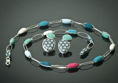 pebbles and sea foam - necklace and earrings