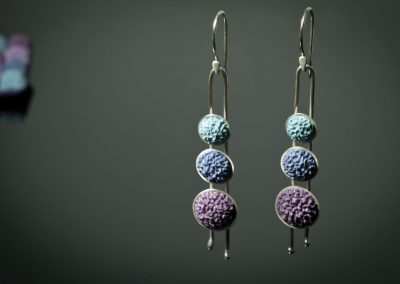 winter tunes - earrings and brooch